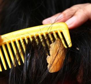 Как убрать лизун с волос