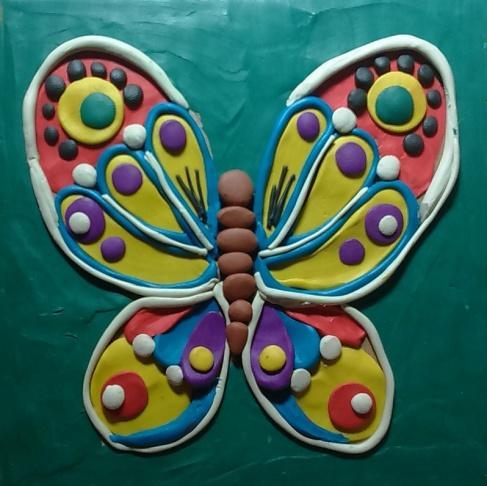 Как сделать бабочку из пластилина